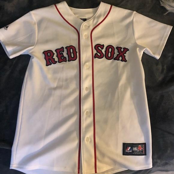 meet 4e424 247b7 Boston Red Sox Jason Bay stitched Jersey KID LARGE